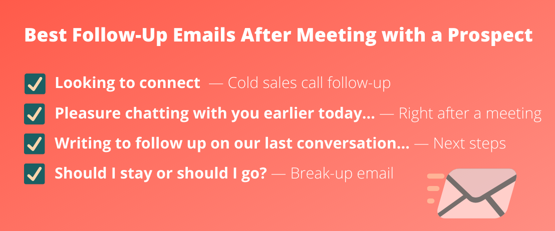 Follow-Up Emails After Meetings With Prospects