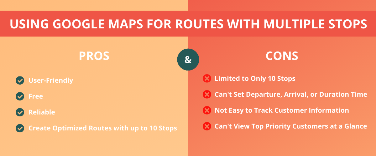 Google Maps pros and cons