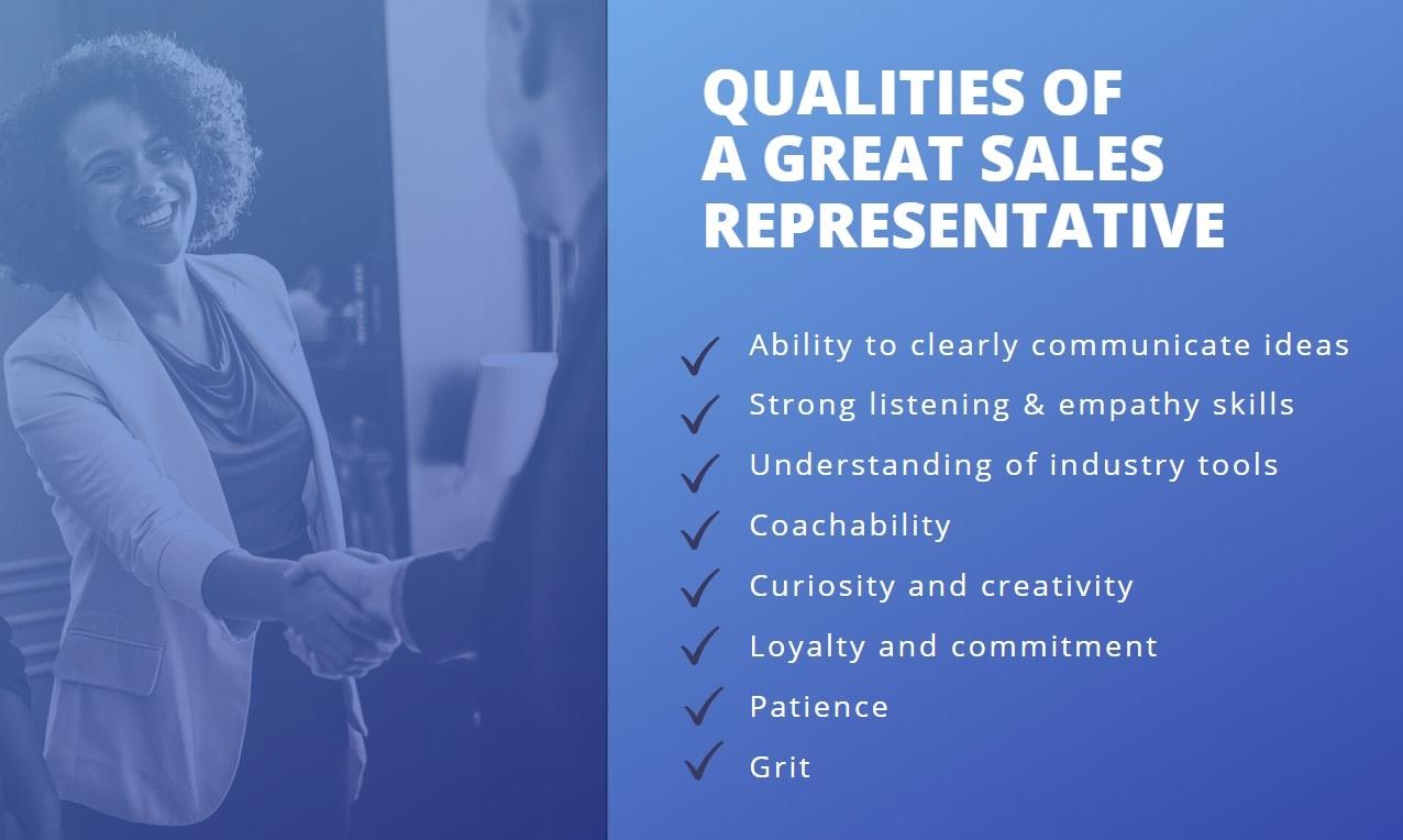Qualities of Great Sales Representative
