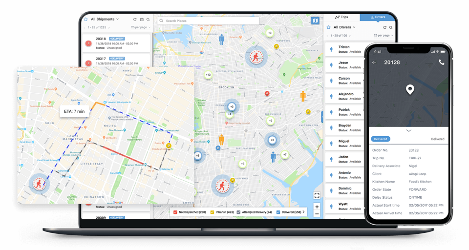 LogiNext Mile route planner