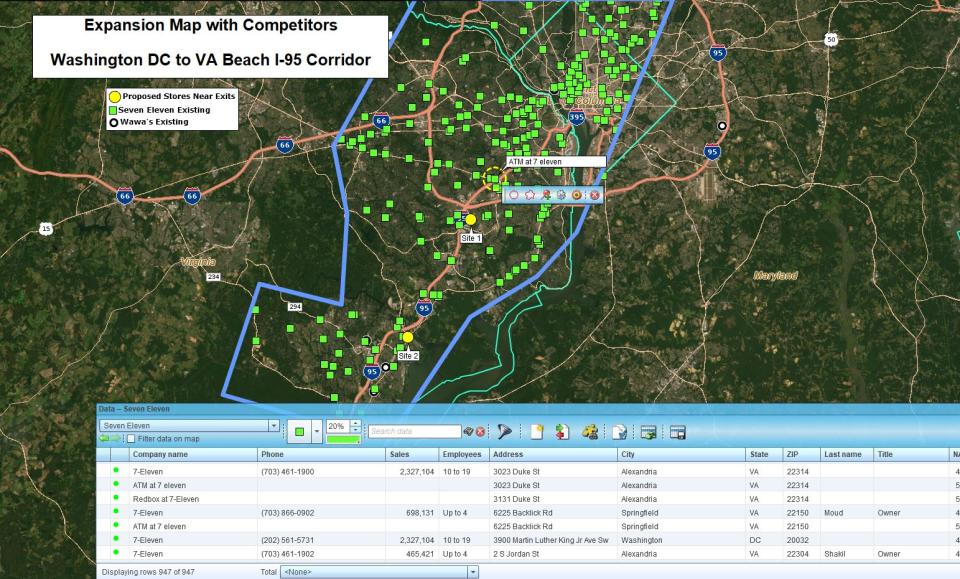 MapBusinessOnline route planner