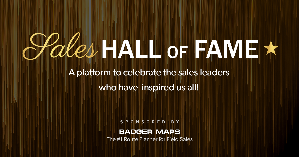 Sales Hall Of Fame Inductees And Nominations Badger Maps