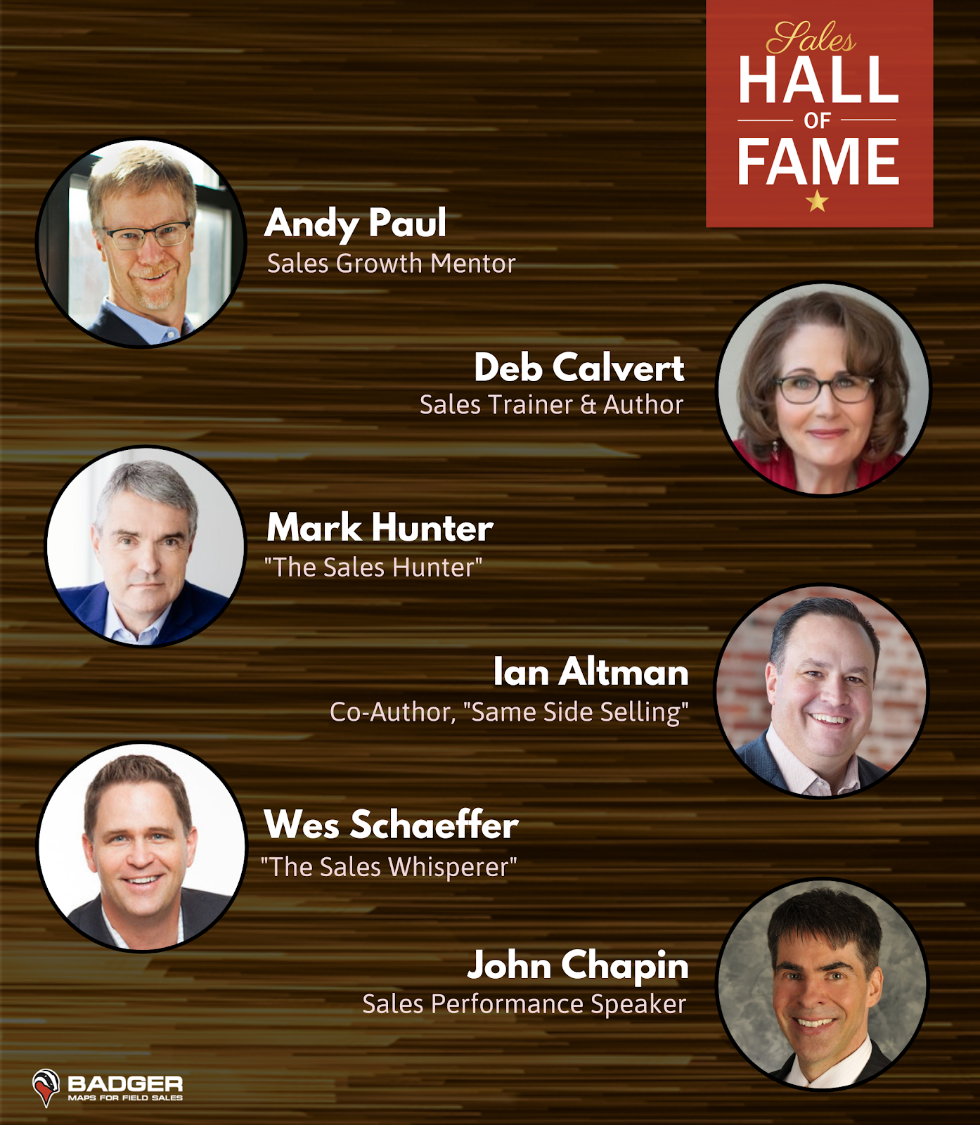 Sales Hall of Fame Nominees