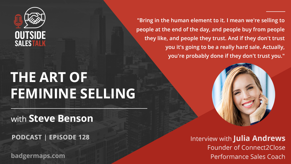 The Art of Feminine Selling - Outside Sales Talk with Julia Andrews