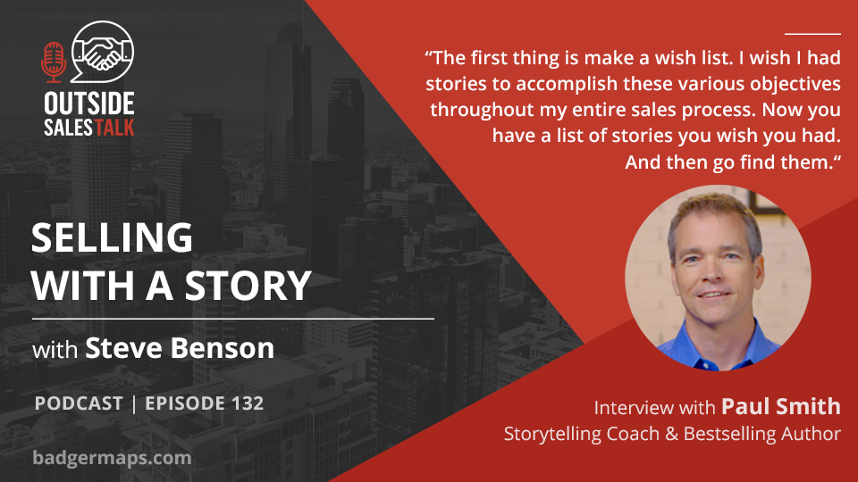 Selling With A Story - Outside Sales Talk with Paul Andrew Smith