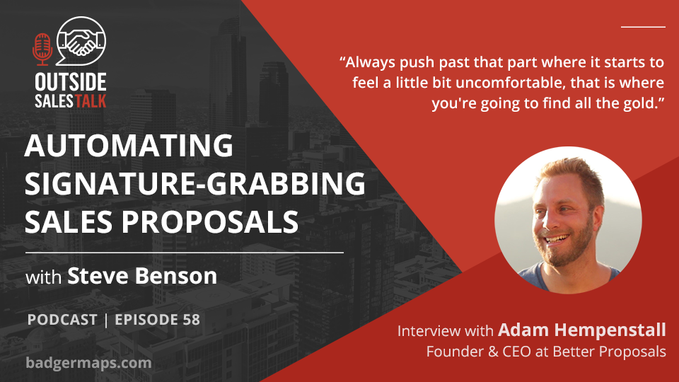 Automating Signature-Grabbing Sales Proposals - Outside Sales Talk with Adam Hempenstall