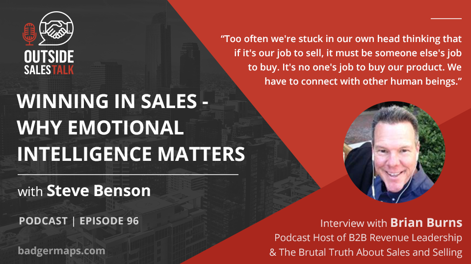 Winning in Sales: Why Emotional Intelligence Matters - Outside Sales Talk with Brian Burns