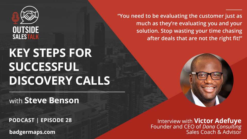 Key Steps for Successful Discovery Calls - Outside Sales Talk with Victor Adefuye