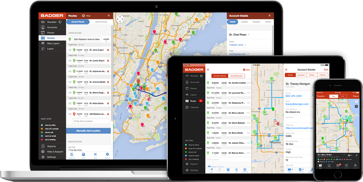 Route Optimization app on Web, tablet & phone